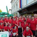 Gruppenfoto der Läufer