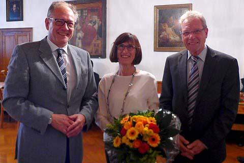 Von links: Hans-Peter Benstein, Christa Rethmann und Hans-Georg Schlienkamp