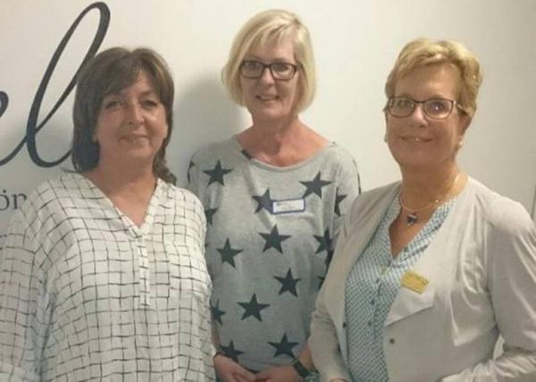 Die Damen Werner, Glaser und Schöler hießen die Mitglieder des Rotaryclubs Selm willkommen