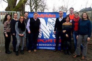 Gemeinsam mit Margret Banken-Konrad und Michael Gössing (MiMa) freuen sich die OGS-Teams und die Schulleitungen auf eine erfolgreiche Ballschul-Kooperation