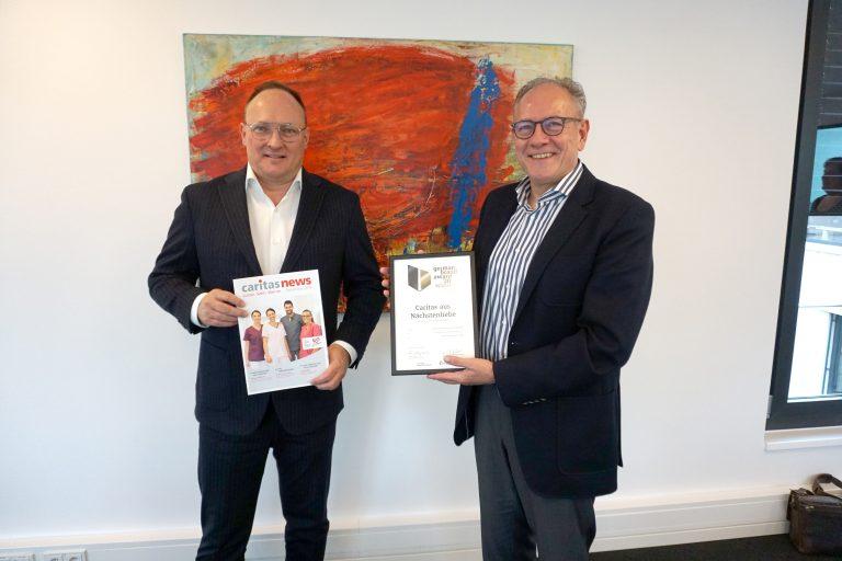 Vorstand Benstein mit Agenturchef Jan Köhler